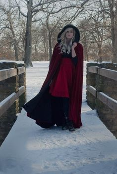 Red Riding Hood Cape Red Micro Velvet-Custom to Order. $375.00, via Etsy.