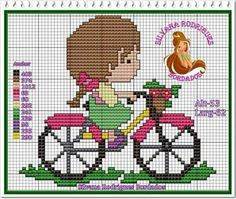 Menina bicicleta