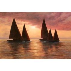 Dream Sails Canvas Art - Diane Romanello (20 x 28)