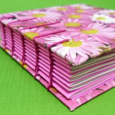 Purple Flower Notebook  Coptic Journal Notebook  by mamacateyes