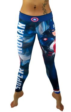 Everyone loves the superhero, Captain America from the Avengers of the Marvel Comics universe! These super colorful and fun leggings fit great, last forever and will make your friends jealous! These a