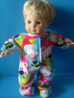 b0ee77f5e0582 CLOTHES BITTY BABY / TWINS CHRISTMAS PENGUIN POLAR BEAR FLEECE SLEEPER Baby  Twins, Twin Babies
