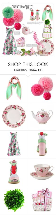 """""""Green Tea"""" by scarletj17 ❤ liked on Polyvore featuring interior, interiors, interior design, home, home decor, interior decorating, Royal Albert, Chicwish, Iron Fist and Anja"""