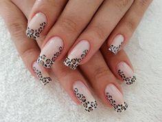 Leopard som fransk och ner längs kanten