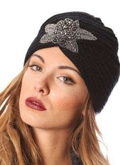Knit Rhinestone Turban