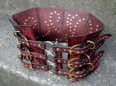 Leather Steampunk Corset Belt