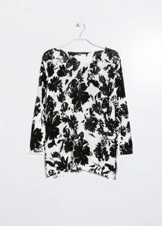Jersey floral bicolor