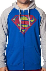 Distressed Superman Hoodie