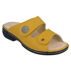 Supple leather uppers provide durable, breathable comfort for all-day wear in a beautiful sunset yellow finish. Experience the comfort only Finn Comfort can provide. Flowy Summer Dresses, Yellow Leather, Soft Suede, Beautiful Sunset, Ankle Straps, Comfortable Shoes, Footwear, Pairs, Spring