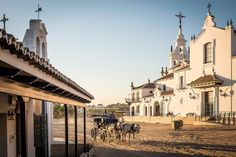 Picture of horse and carriage in El Rocio in Donana National Park, Spain
