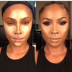Black girl make up - transformation make up i like in 2019 beauty make Kiss Makeup, Love Makeup, Makeup Inspo, Makeup Inspiration, Perfect Makeup, Makeup Goals, Makeup Tips, Beauty Makeup, Maquillage Black