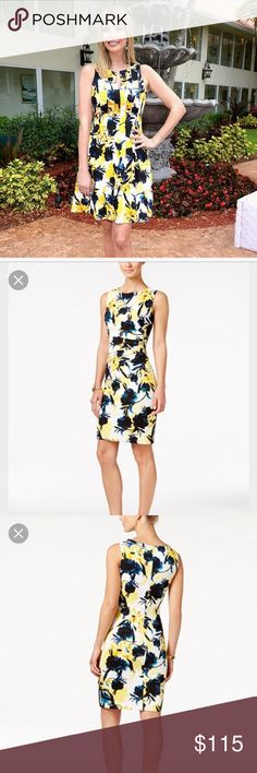 Ivanka Trump Yellow Floral SHEATH Dress NEW❤️reqSz Ivanka Trump ⭐️Yellow ⭐️Floral SHEATH Dress NEW Never worn. Authentic. Size 8/Mrequest your size ❤️❤️I MAY be able2find it      ⚜️I was curious about this dress. The print was different.Almost so so2me I thought.Then I tried it on. IT COMES ALIVE. You just want 2stare@yourself. You feel like a ❤️⭐️princess. You will love this dress❤️omg✅✅✅✅✅✅✅✅the  dress Ivanka is wearing is a different STYLE✅✅✅ Ivanka Trump Dresses