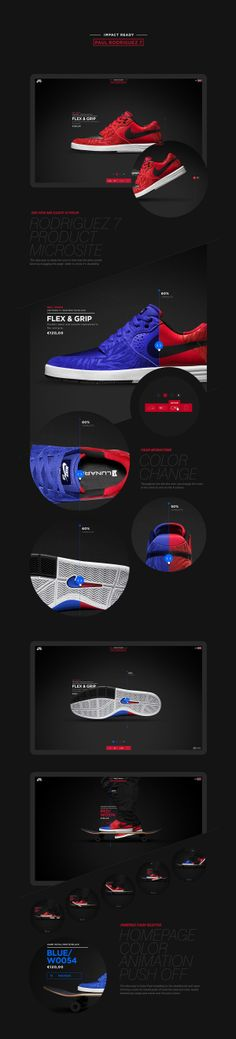 Nike - Rodriguez 7 product micro site by Anthony Goodwin, via Behance
