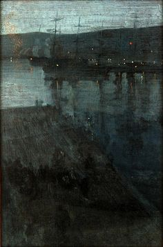 James McNeill Whistler / Nocturne in Blue and Gold: Valparaiso / 1866/ca.1874 / oil on canvas / Freer and Sackler Galleries