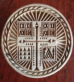 Orthodox Hand Carved Prosfora seal on wood Orthodox Christianity, Sunday School, Wood Carving, Apple Cider, Hand Carved, Concrete, I Am Awesome, Heaven, Wire