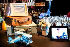 ideas para baby shower de tema viajes en estilo vintage