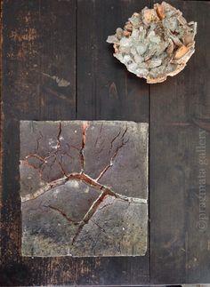 """Square planet discovered"" Ceramic objet by Yuji Ueda."