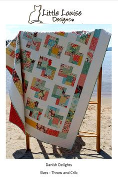 Quilt Pattern: Danish Delights Layer Cake Quilt Pattern 3 Sizes QUICK and EASY. $9.00, via Etsy.