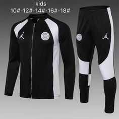 6b5dbeda05677d PSG 18 19 Jordan Black (with white) Kids ( Youth) Jacket Tracksuit Slim Fit