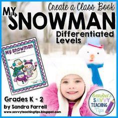 FREE!!!   WINTER CLASS BOOK - Descriptive Writing  Differentiated for all Primary grades.
