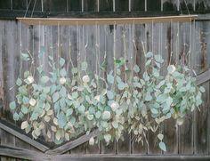 hanging eucalyptus chandelier // fun wedding diy project