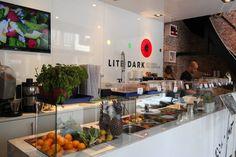 Lite/Dark is een super gezonde lunchroom in de Utrechtsestraat waar alles draait…