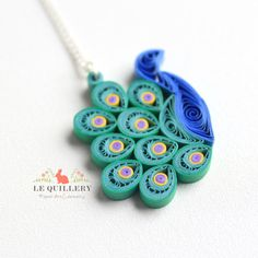 OOAK Handmade Paper Quilling Jewelry Eco Friendly by LeQuillery