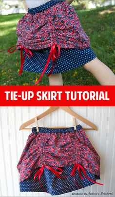 Ribbon tie-up skirt tutorial!