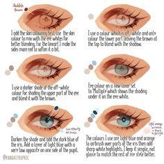 Drawing Eyes Expression My eye colouring tutorial! feel free to repost any of my tutorials but please tag me! -i personally like to keep my eye colouring fairly… Eye Drawing Tutorials, Digital Painting Tutorials, Digital Art Tutorial, Drawing Techniques, Drawing Tips, Art Tutorials, Painting Tools, Eye Manga, Digital Art Beginner