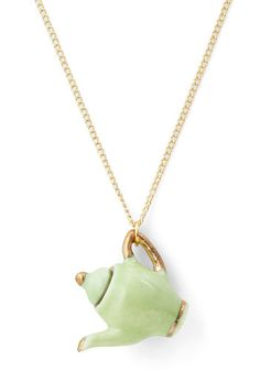Just Brew It Necklace. Your style is always spot on, so why not add this adventurous accent to your ensemble? #green #modcloth