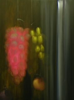 """Grape Study (2014) 17"""" x 23"""" Oil on board Signed by the artist"""