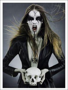 Corpse paint feminina - FIERCEKRIEG