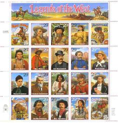 Legends of the West Postage Stamps