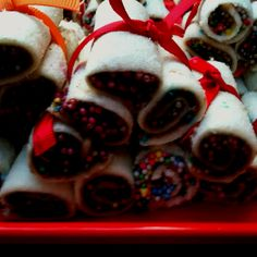 Bite size nutella fairy bread rolls, enjoyed by guests of all ages, inspired by