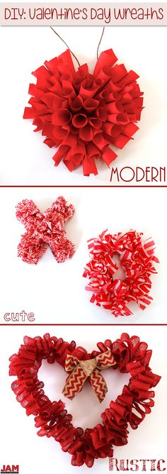 Spread the love even before they get in the door! With 3 DIY Valentine's Day Wreaths, you'll definitely be ready for the love holiday! All with JAM Paper Products! Diy Valentines Day Wreath, Cute Valentines Day Gifts, Valentines Day Decorations, Valentine Ideas, Valentine Day Crafts, Holiday Crafts, Holiday Fun, Horseshoe Ideas, Door Decorating