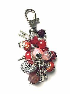 Bag charm Keychain key chain He loves me keychain by KnottyHead