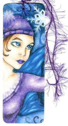 Snowflake Fairy Winter Art Bookmark by aquariann makes great stocking stuffer!