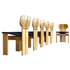 such great detail!  6 Afra & Tobia Scarpa 'Artona' Chairs