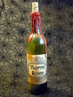 Creepy Halloween Labels OOAK Vampire Blood Halloween Labeled