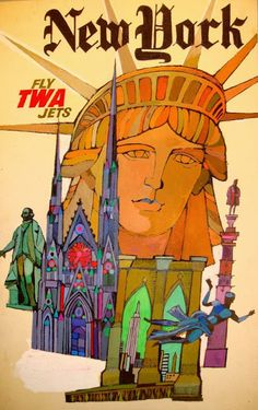 David Klein, poster for Trans World Airlines.