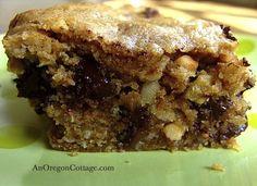 Whole Grain Chocolate Chip Peanut Butter Bars - An Oregon Cottage