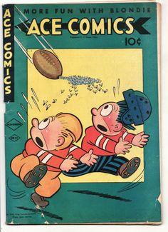 Vintage ACE Comic Book 92 Golden Age 1944 The Phantom Prince Valiant Blondie