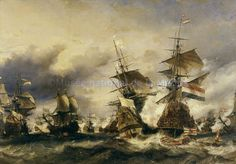 Louis Eugene Gabriel Isabey - The Battle of Texel, 29 June 1694 Louis Xiv, All Poster, Poster Prints, Anglo Dutch Wars, Jean Bart, Fine Art Prints, Canvas Prints, Nautical Art, Custom Posters