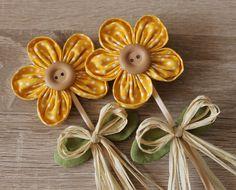 KYTIČKA - zápich do květináče - žlutá