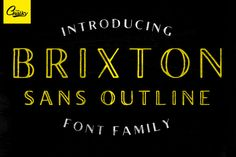 Brixton Sans Outline by Tom Chalky on Creative Market