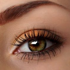 Wear warm autumn oranges to bring out the best in your hazel eyes. This makeup is wearable day or night.