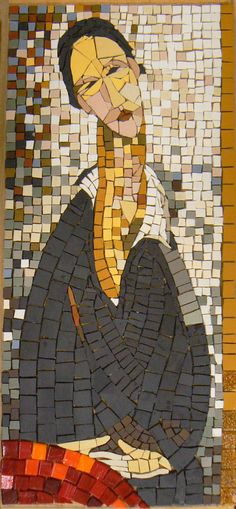 "Beautiful mosaic portrait. ""Although the majority of our work is community based, private work is also undertaken: http://www.southbankmosaics.com/content/our-volunteers.php """