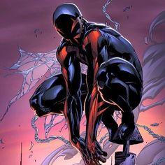 """Domandina serale : preferite il carattere sicuro e """" oscuro"""" di Spiderman 2099 ( vero nome Miguel O 'Hara) o quello più """" normale """" diciamo del nostro Peter Parker?  Answer in the night : do you prefer the resolute attitude of Spiderman 2099 ( real name Miguel O'Hara) or the """" normal"""" attitude of our Peter Parker ?  #spiderman #peterparker #spider #hero #heroes #2099 by comicsuniverse_it"""