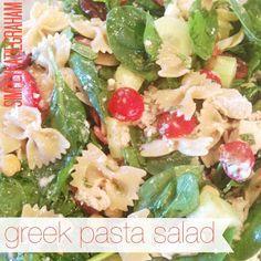 Simply Katie : Greek Pasta Salad