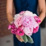 6-Pink & Fuchsia Bouquet, Navy & Pink Wedding